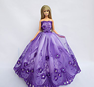 Barbie Doll Holiday Party Princess Dress Swinging Violet