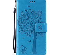 PU Leather Material Cat and Tree Pattern Phone Case for Samsung GalaxyGalaxy Note6/Note 5/ Note 4/Note 3