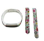 Smart Strap Bracelet Colorful Printing Silicone Bracelet For Fitbit Alta(26)