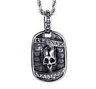 Punk Style Jewelry Men's Stainless Steel Skeleton Pendant Necklace from China Jewelry Manufacturer