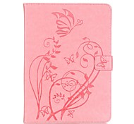 PU leather Material Butterfly Pattern Plate Embossing Protective Case for Samsung T800/T700/T560/T550/T230