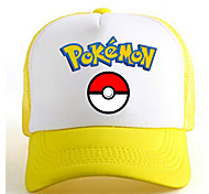 Hat/Cap Inspired by Pocket Monster Ash Ketchum Anime Cosplay Accessories Cap / Figure White / Yellow Charmeuse Male / Female