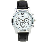 Creative Business Casual Men's Three Time Zones Quartz Mechanical Watch