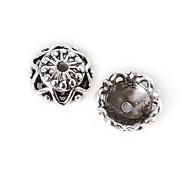 12pcs beadia antiguos granos de la aleación de plata de la flor granos del espaciador 11x4mm&perlas casquillo