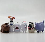 Inspired By Secret Life of Pets 6 Pets Rubber Figures Squeeze Make Sound With Keychain