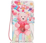 EFORCASE® Balloon Bear 3D Painted Lanyard PU Phone Case for Huawei P9lite