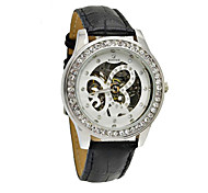 WINNER Women's Mechanical Watch Mechanical manual-winding Band Sparkle Black
