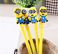 Monocular Binocular Black Pen Creative Cartoon Little Yellow Signature Soft Gel