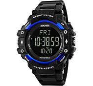 Skmei® Men's Heart Rate Monitor Multifunction LED Sports Watch 30m Waterproof Assorted Colors Fashion Watch