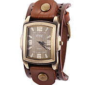 Damen Modeuhr / Armbanduhr / Armband-Uhr Quartz Armbanduhren für den Alltag Leder Band Vintage / Cool Schwarz / Blau / Braun Marke-