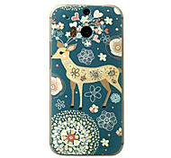 For HTC Case Embossed Case Back Cover Case Animal Hard PC HTC