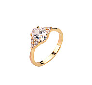 Fashion ladies CZ Ring copper gold platinum gold rose gold color ring