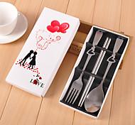 Wedding Wedding Gifts Stainless Steel Fork Spoon Chopsticks Suit Wedding Favor Souvenir - Pak Cartridge