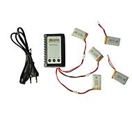 exploradores de baterías partes X5c-11 3.7V 650mAh Lipo 3 en 1 cable de línea x 5pcs cargador w / b3 Syma X5c / 1-X5c