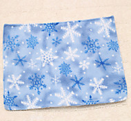 1pc Blue Snowflake Christmas Placemat Table Decoration Cup Mat Party Supplies