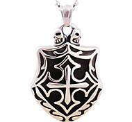 collier pendentif croix de coulée de titane