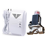 сжиженный газ природный газ детектор утечки сигнализация с DN15 электромагнитного соленоида клапана автоматического отключения