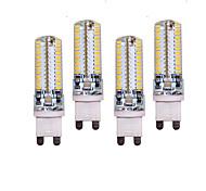 10W G9 Luces LED de Doble Pin T 96 SMD 3014 700 lm Blanco Cálido / Blanco Fresco Decorativa AC 100-240 V 4 piezas