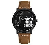 Student Watch Men Sport Watches Men Leather Wristwatch Clock Hours Quartz Watches Cool Watch Unique Watch Fashion Watch