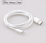 yellowknife® IMF manzana rayo de sincronización de 8 pines y cable redondo cargador USB para iPhone6 ​​/ 5s / ipad (200 cm)