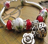 Alloy Acrylic Strand Bracelet with Pendant(Random Type)