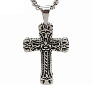 Titanium Cross Pendant Necklace