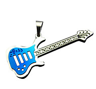 Guitar Lovers Necklace - Blue Color Small Gun