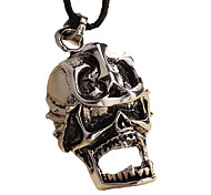 Stainless Steel Necklace - Skeleton Anchor