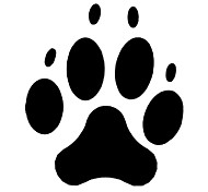 Fashion The Animal Footprints 2 Pattern PVC Bathroom or Bedroom or Glass Wall Sticker Home Decor