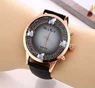 Fashion Gem Case Colorful Leather Band Fashion Watch for Women