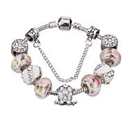 Bracelet/Charmes pour Bracelets / Bracelets Rigides / Bracelets de rive / Bracelets en Argent Alliage / Acrylique / Strass / Plaqué argent