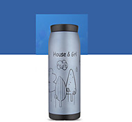 1Pc 500Ml Stainless Steel Vacuum Cup Portable Bottle Random Design
