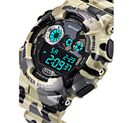 Men's Military Camouflage Design Digital LCD Waterproof Sports Watch