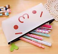 Bd03 Korea Silicone Transparent White Pencil Cute Face Meng Yan Jun Pencil Box Cartoon Character Unisex