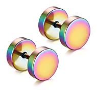 Men's Fashion Dumbbell Style Titanium Steel Stud Earrings