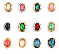 5pcs  Nail Alloy Jewelry Retro Random Color