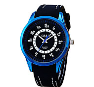 Men's Fashion Quartz Casual Jelly Silicone Multi-Colored Alloy Couple's Simple Student Gift Watches