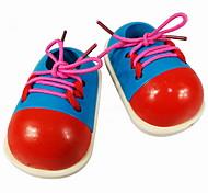Shoelace Learning Wooden Shoe Toy
