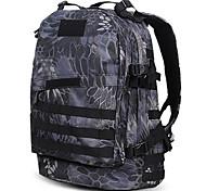 30 L Rucksack Camping & Hiking Outdoor Waterproof Black / Brown Nylon