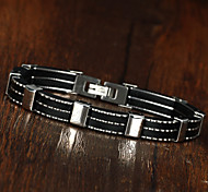 Stainless Steel Silicone Men Fashion Bracelet Casual Design Vintage Chain Bracelets Multi-facility Men Bracelet