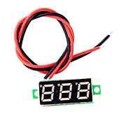 0,28 pulgadas de mini llevaron voltímetro digital dc2.5-30v pantalla del medidor de voltaje voltios