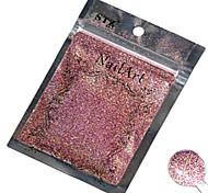 1pcs nail art belle couleur rose paillettes laser poudre décoration des ongles diy l02