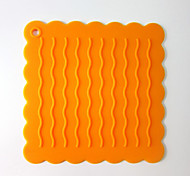 Continental Wavy Silicone Mat Insulation Pad Non-Slip Pad Coaster Hand Bags 5Pcs