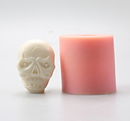 Skeleton Head Chocolate Silicone Molds,Cake Molds,Soap Molds,Decoration Tools Bakeware