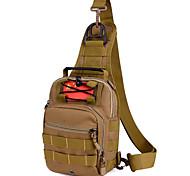 5 L Sling & Messenger Bag Camping & Hiking Outdoor Waterproof Khaki Nylon