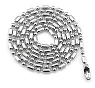 Women Sliver Titanium Steel Chain With Bamboo