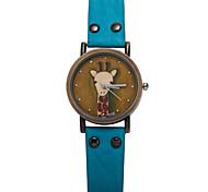 Feifan Brand Womens Wrist Watch Pu Leather Strap Giraffe Pattern Ladies Quartz-Watch