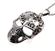 Women's Choker Necklaces Pendant Necklaces Stainless Steel Skull / Skeleton Fashion Silver Jewelry Daily Casual 1pc