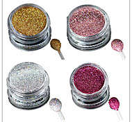 1 Bottle Nail Art Laser Colorful Glitter Shining Powder Manicure Makeup Decoration Nail Beauty L1-4