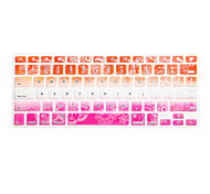 COLORFUL Palace Floral Pattern Silicone Keyboard Cover Skin for Macbook Air 13.3/Macbook Pro 13.3 15.4,US version